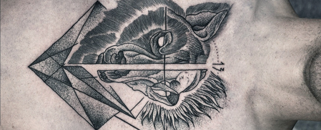 640x260 70 Wolf Skull Tattoo Designs For Men