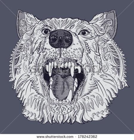 450x470 Wolf Teeth Stock Vectors Amp Vector Clip Art Shutterstock Book