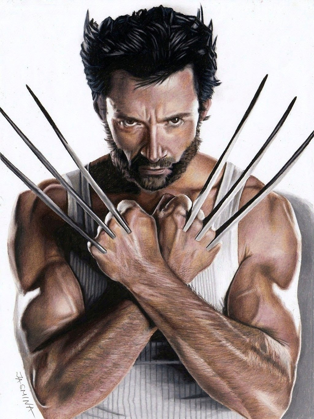 1024x1366 Drawing Wolverine Marvelampdc Comics Marvel Dc