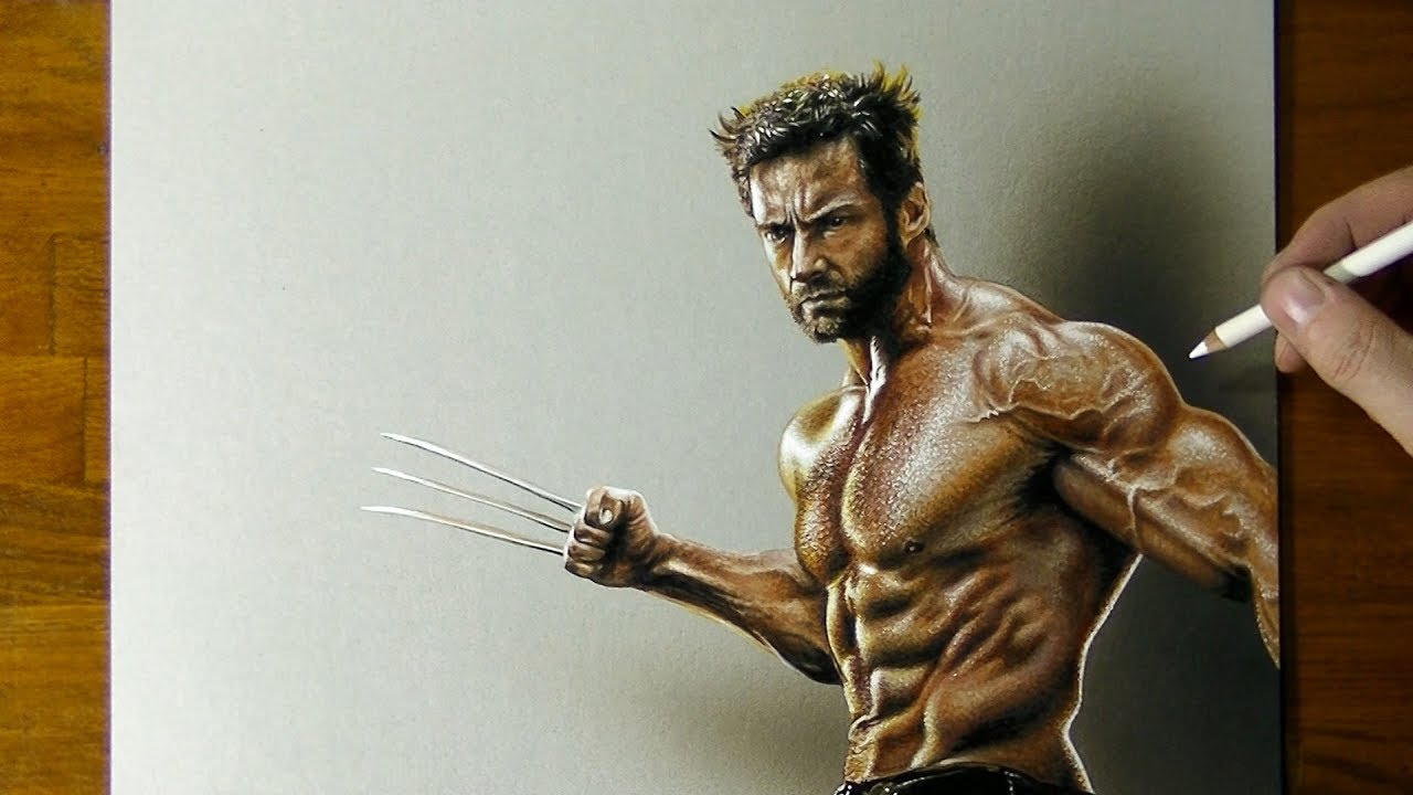 1280x720 Drawing Wolverine Hugh Jackman