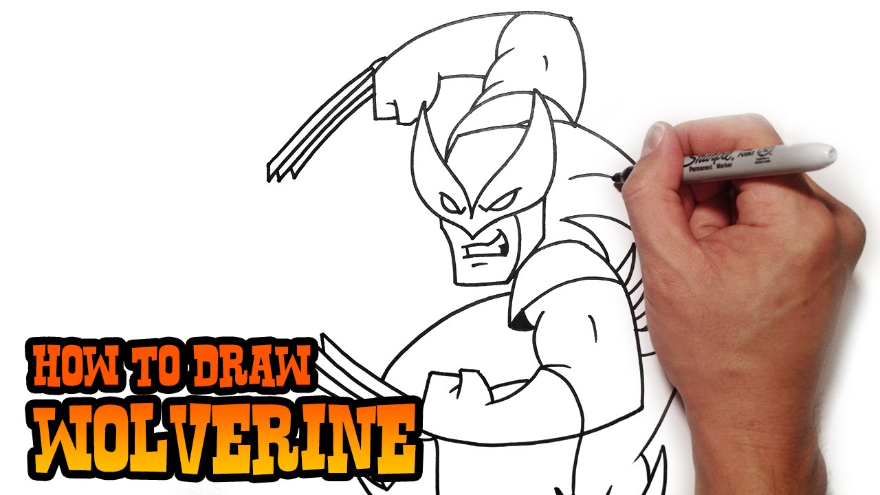 1280x720 How To Draw Wolverine Step By Step Video Lesson