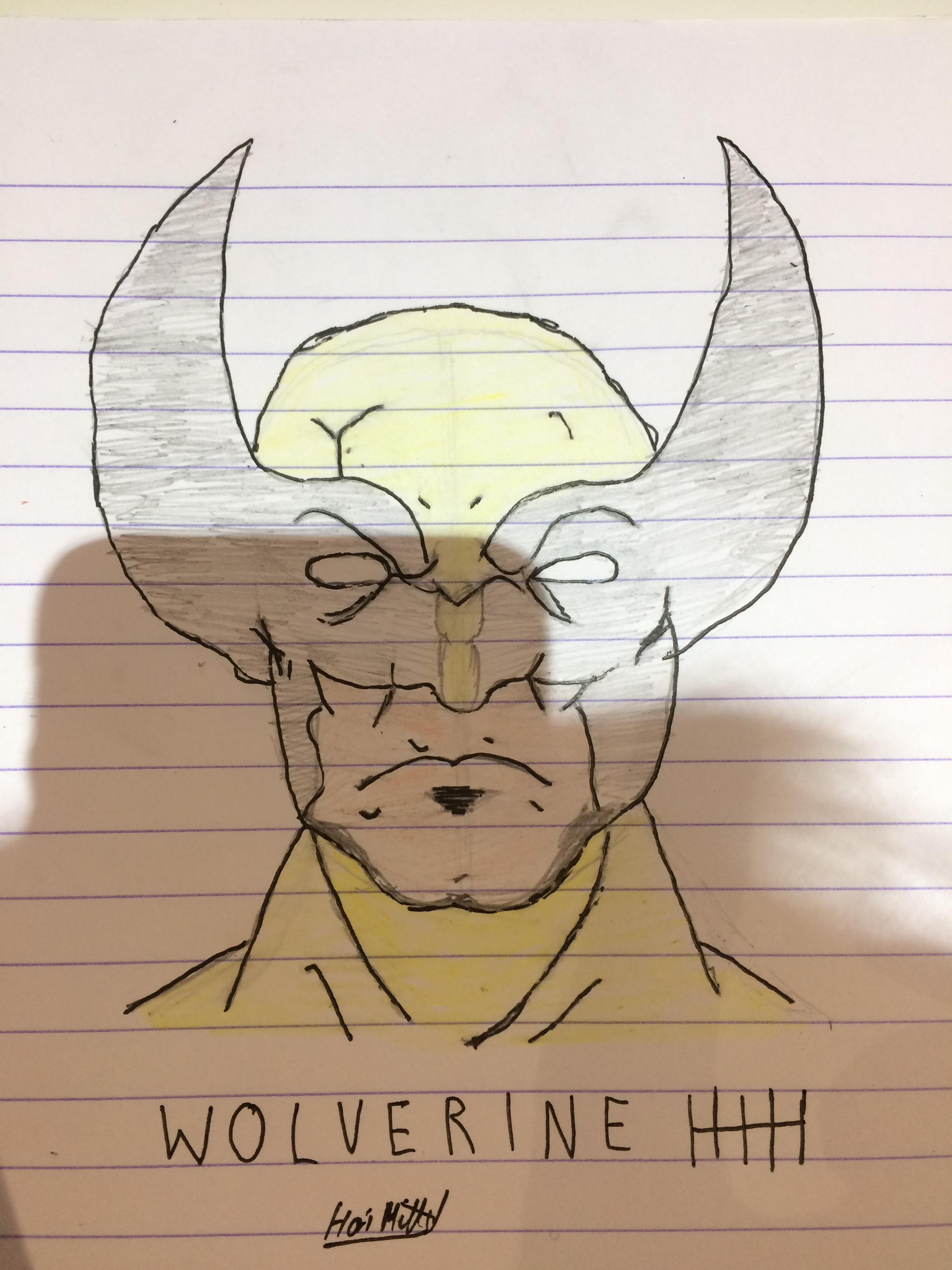 2448x3264 My Wolverine Drawing, I Know It's Not Related To The App, But I