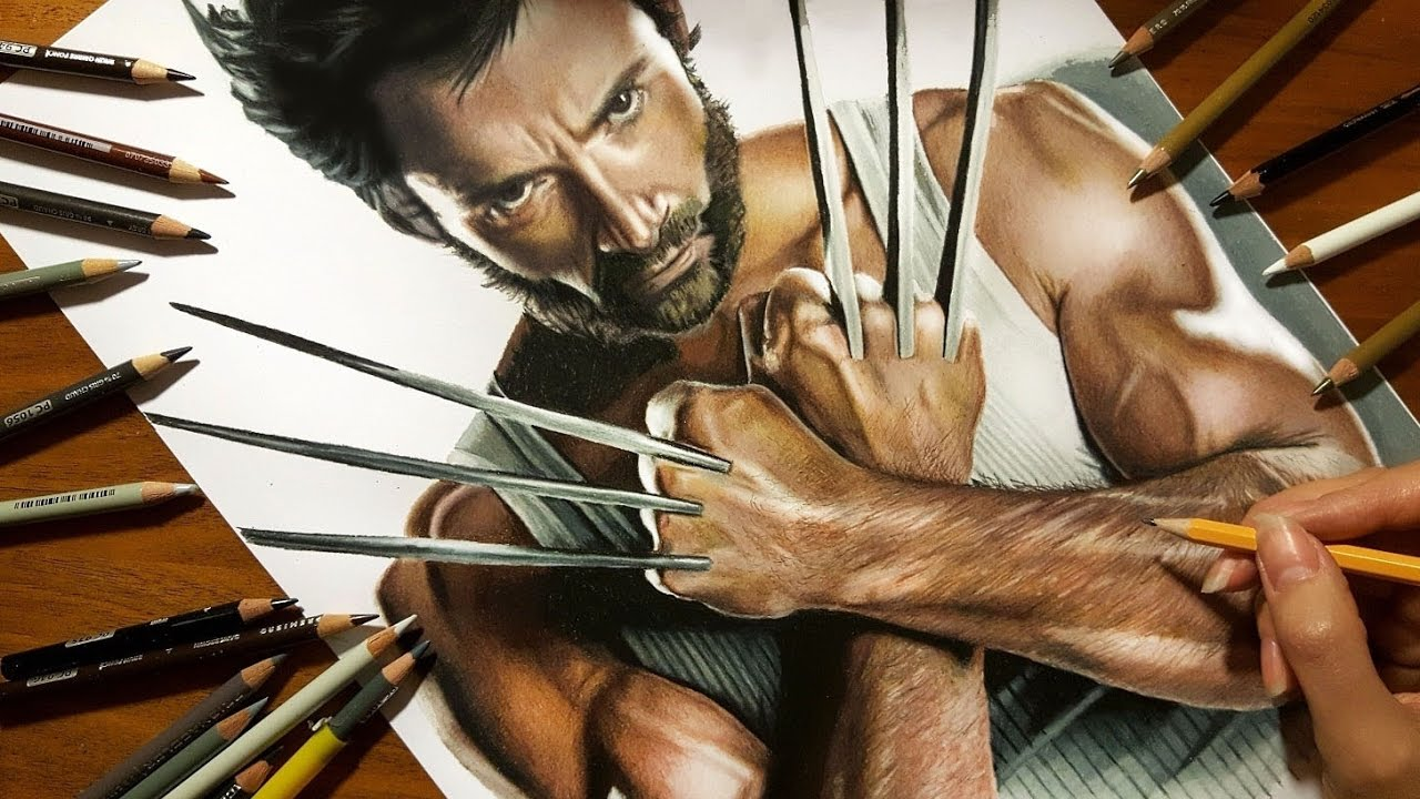 1280x720 Speed Drawing Hugh Jackman As Wolverine Jasmina Susak