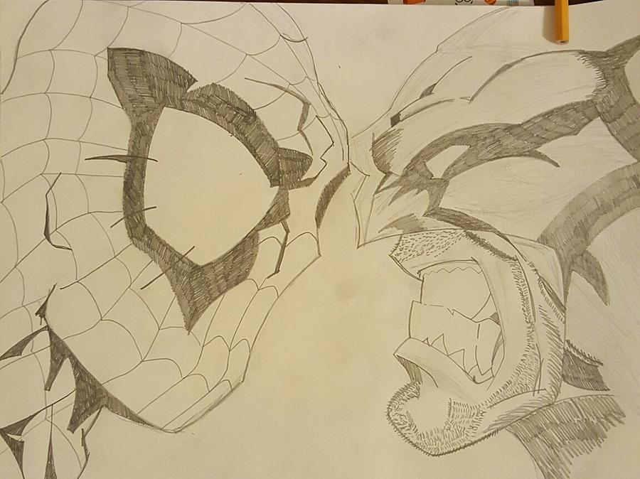 900x674 Spiderman Vs. Wolverine Drawing By Tim Smith