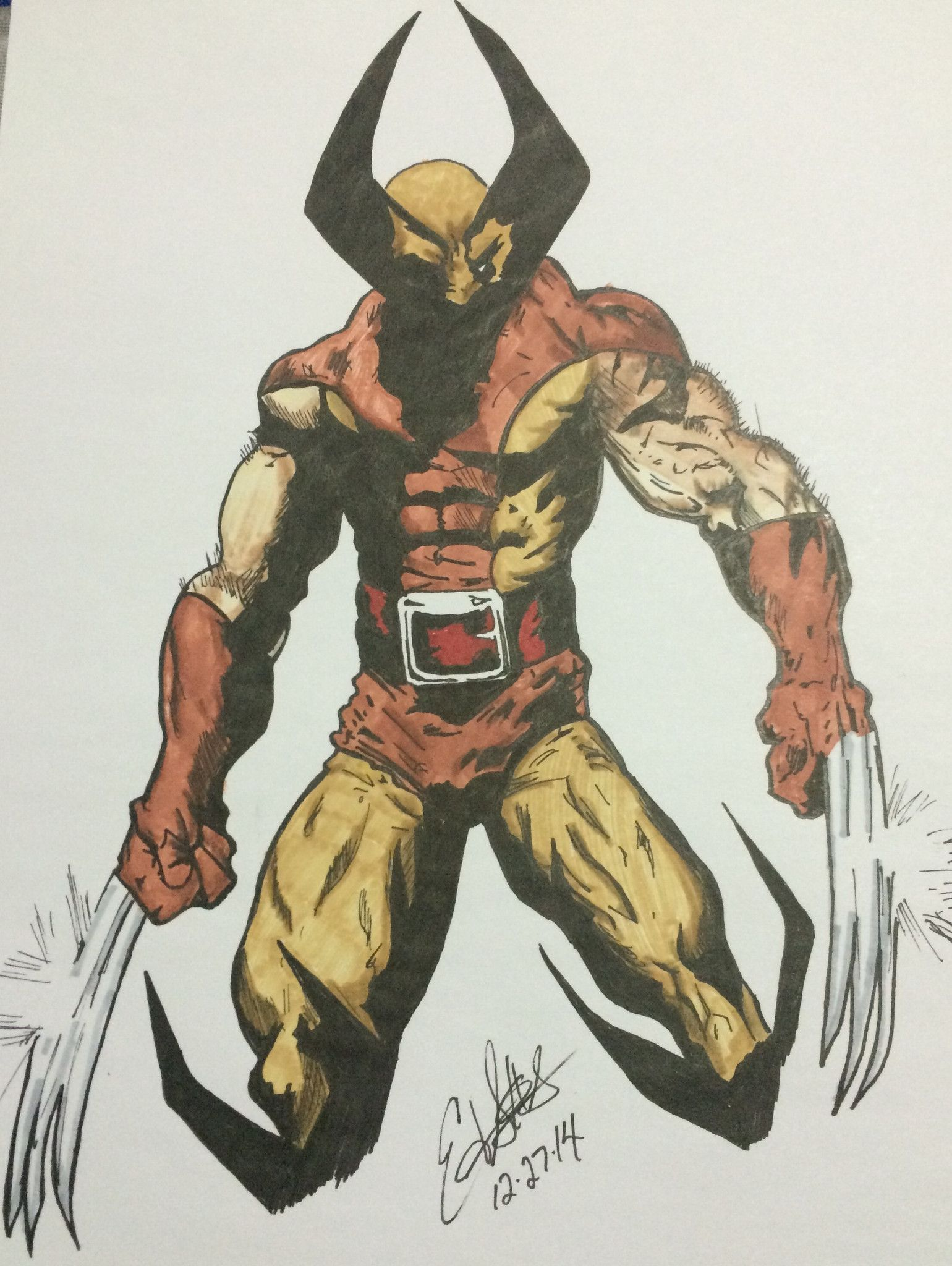 1540x2048 The Wolverine Drawings By Ed S. Comic, Marvel