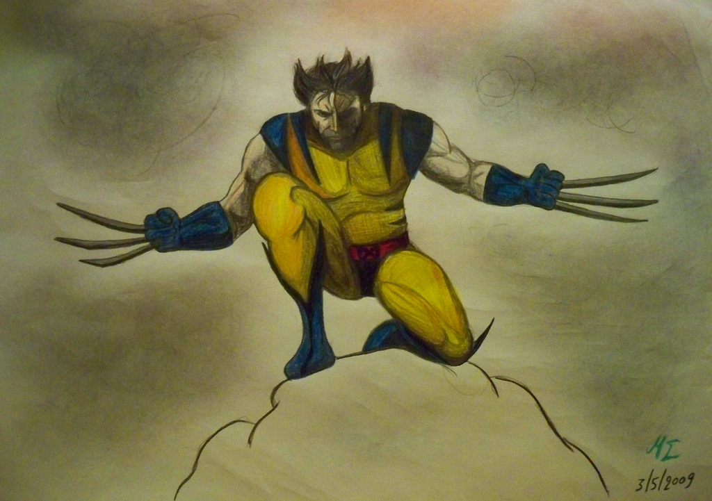 1024x721 Wolverine Pencil Drawing An Attempt To Draw My Favourite