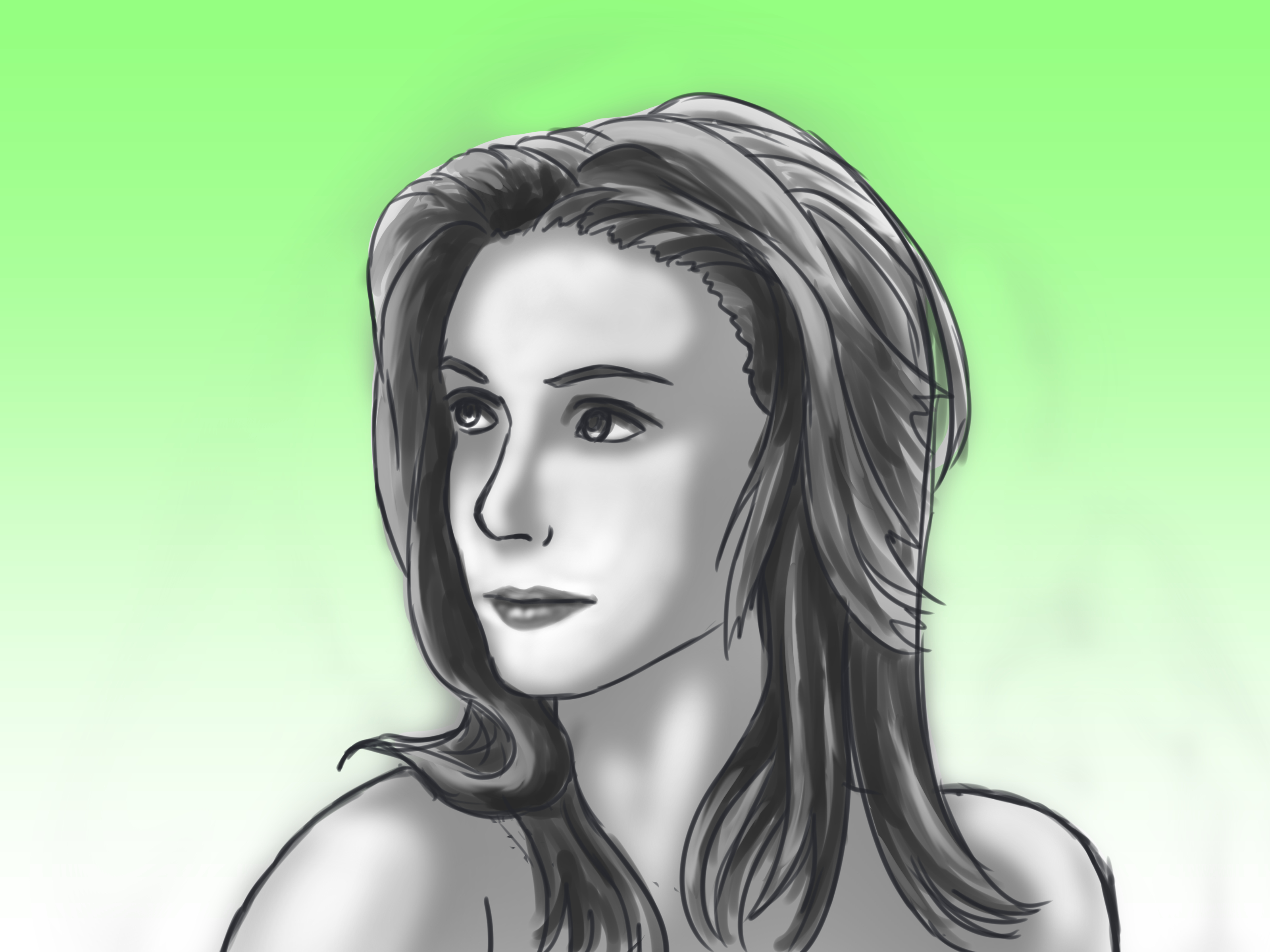 3200x2400 How To Draw A Portrait Of A Woman (With Pictures)
