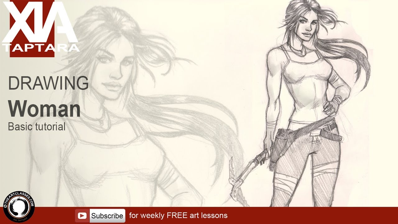 1280x720 How To Draw A Woman