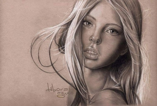 660x447 Woman Drawing By Debora Aguelo