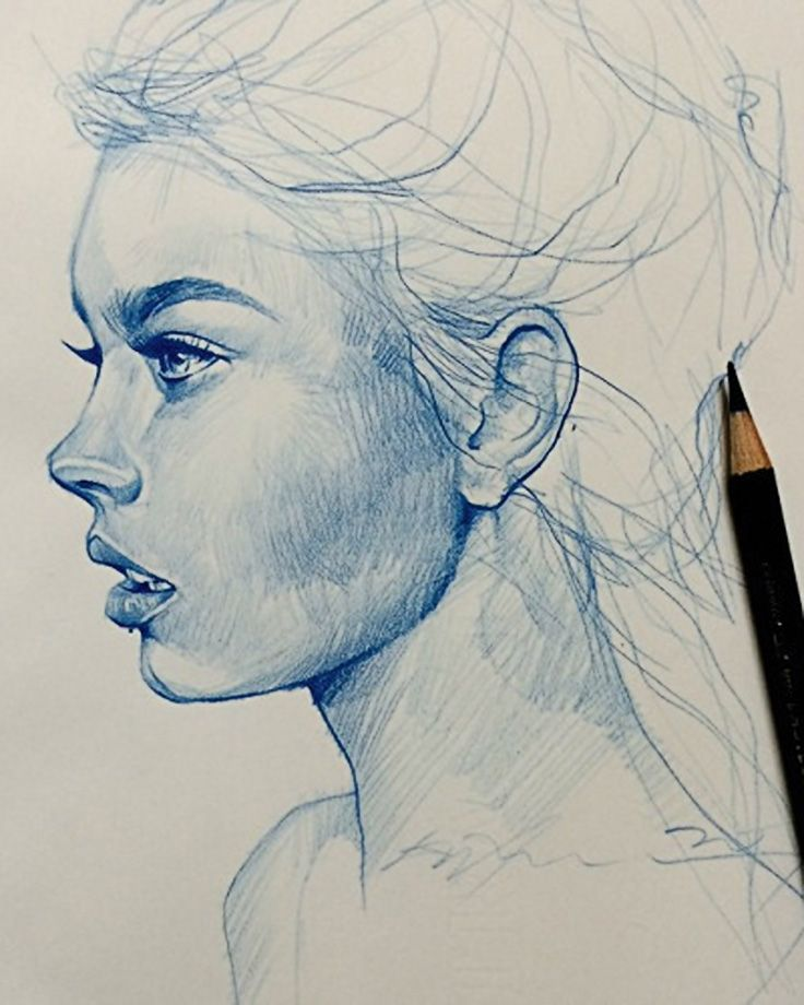 736x920 Alvin Chong, Color Pencil, 2014 {Figurative Art Female Head Woman