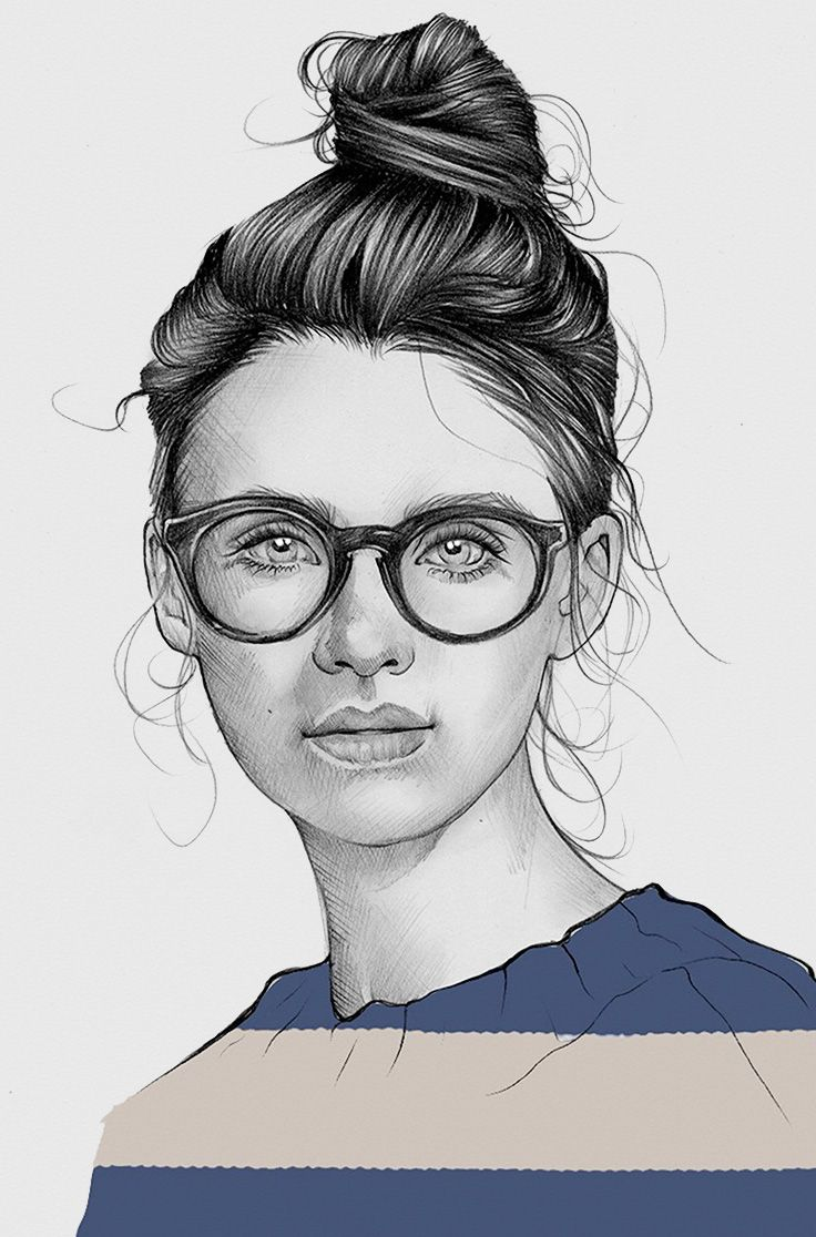 736x1116 Elena Pancorbo {Beautiful Female Head Eyeglasses Young Woman Face