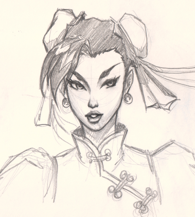 811x900 How To Draw Comic Woman Face Chun Li