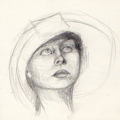 400x398 Daily Sketch 13 Woman Looking Up Nightengail Art