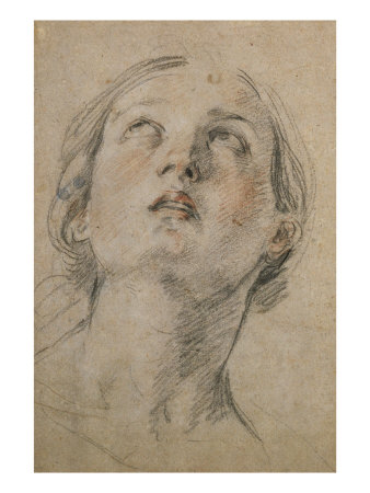338x450 Head Of A Woman Looking Up Affiches Par Guido Reni Sur Allposters