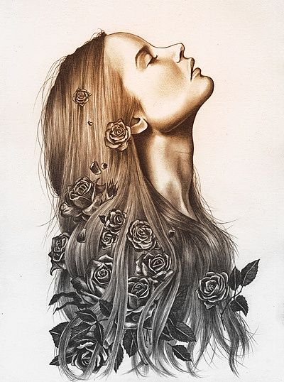 400x538 Feyre [Woman Tattoo Kate Powell] A Court Of Thorns And Roses