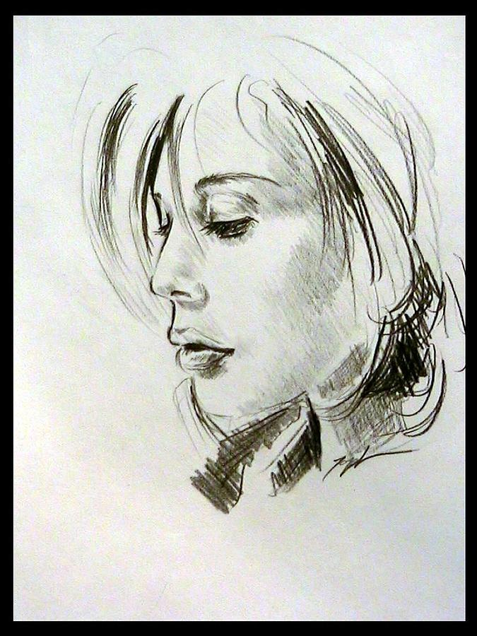 675x900 Profile Drawing Of Blonde Woman Drawing By Lord Toph