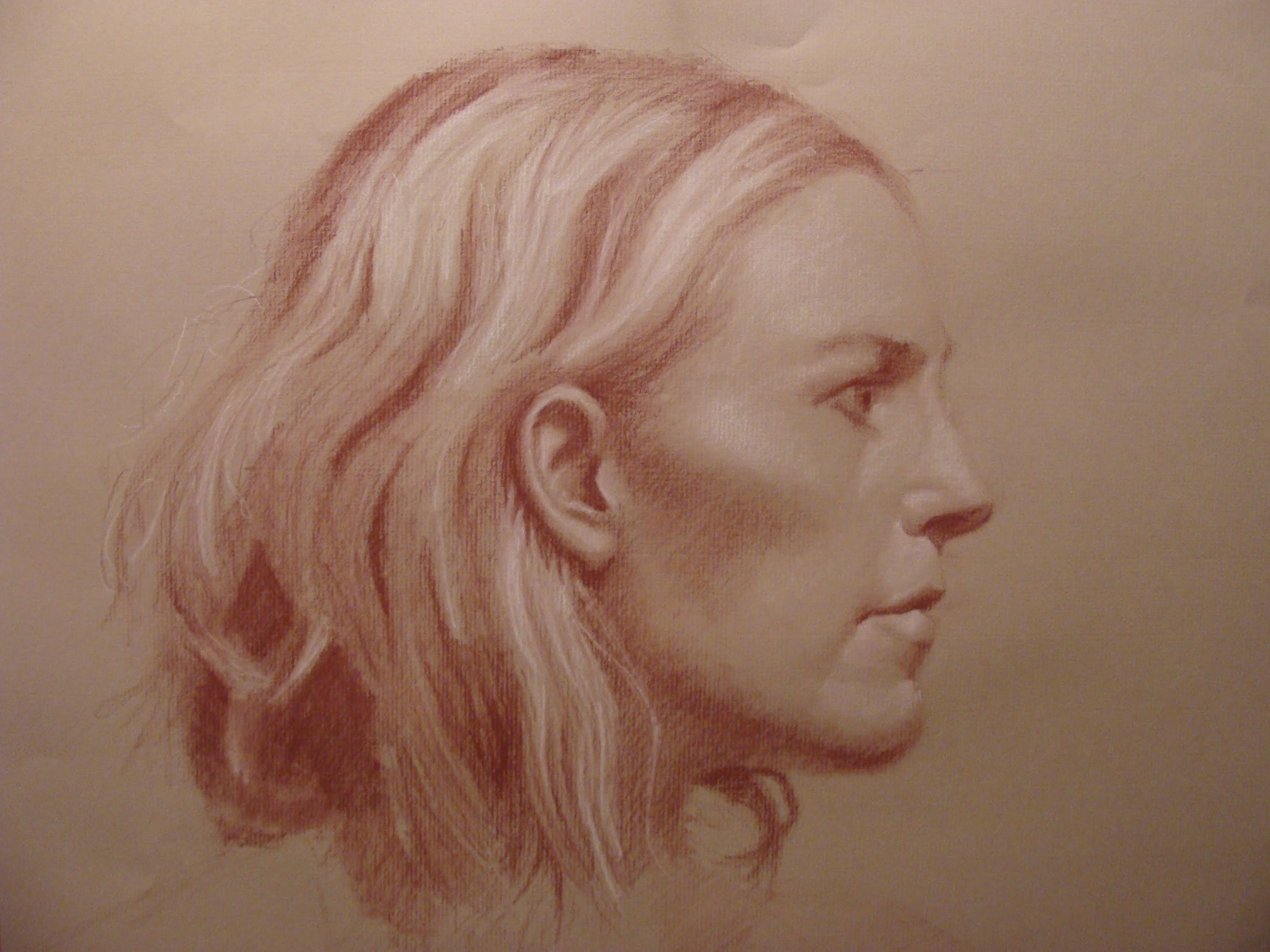 3000x2250 Speed Drawing Profile Of A Woman