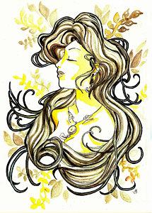 215x300 Woman Profile Drawings