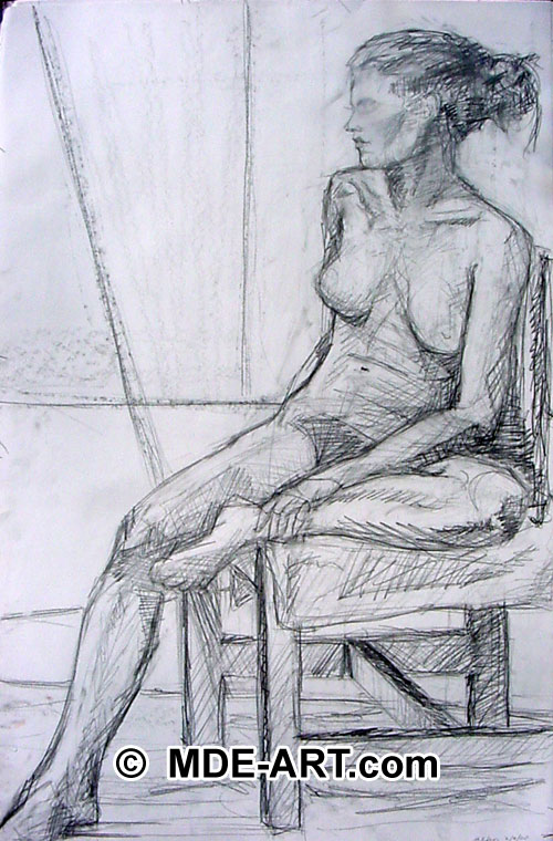500x760 Woman Sitting Pencil Drawings And Sketches Art Gallery
