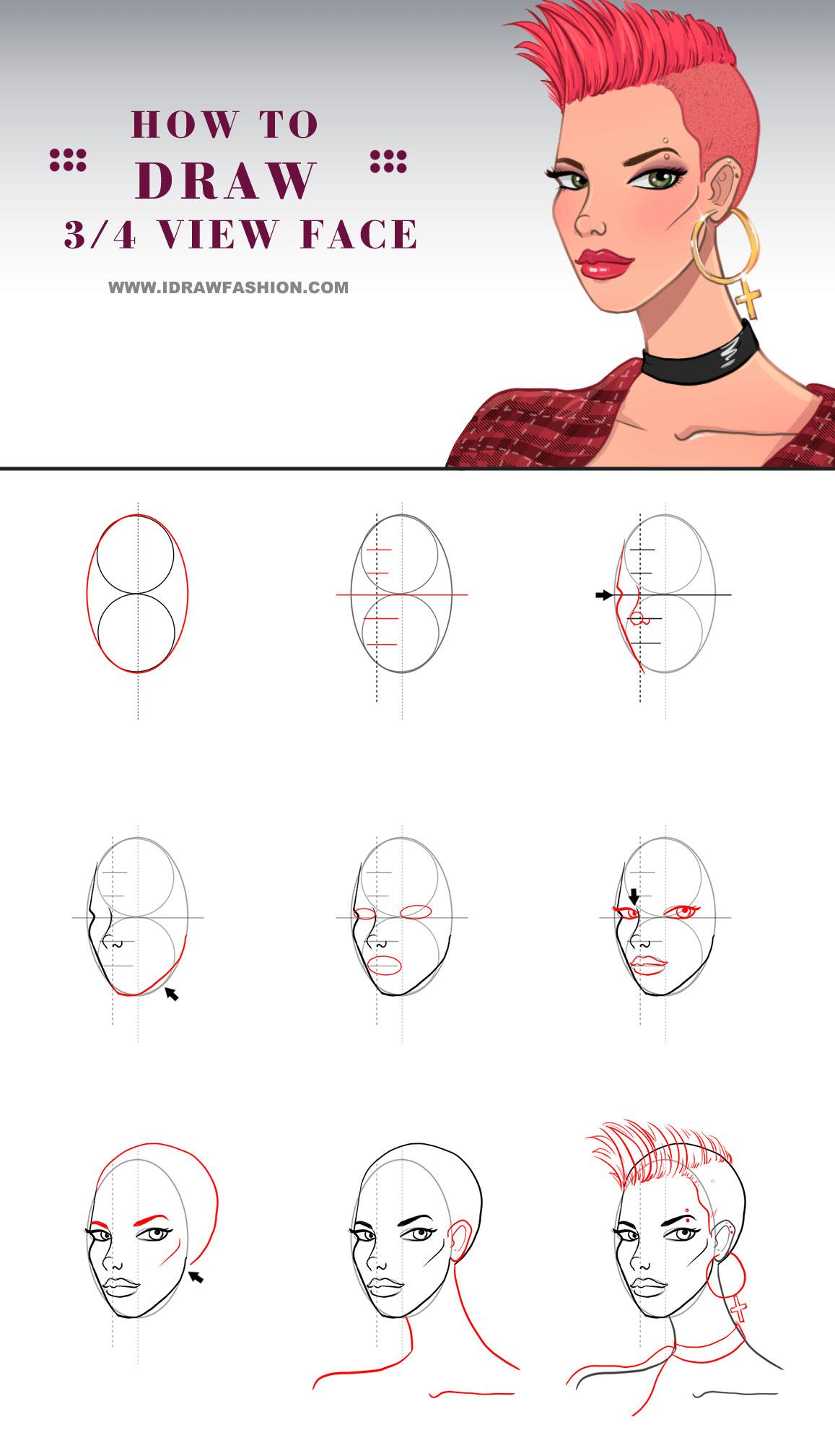 1157x2016 Draw A 34 View Face I Draw Fashion