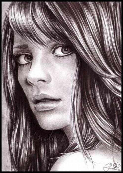 498x700 pictures pencil drawings of womens faces