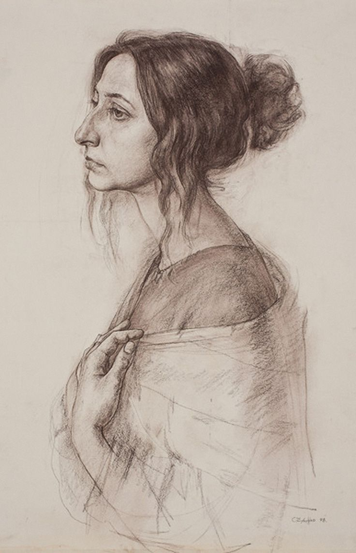 736x1141 Pencil Drawings Of Women's Faces Best Profile Drawing Ideas