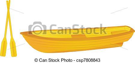 450x209 Wooden Rowing Boat Illustration Vectors