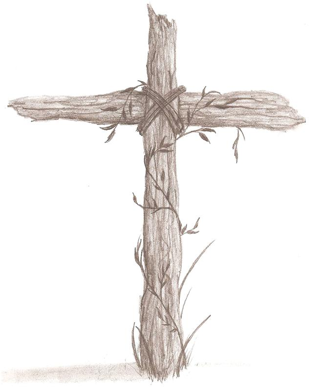 659x795 Rugged Cross Sketch Old Wooden Cross Drawing Rugged Cross By K