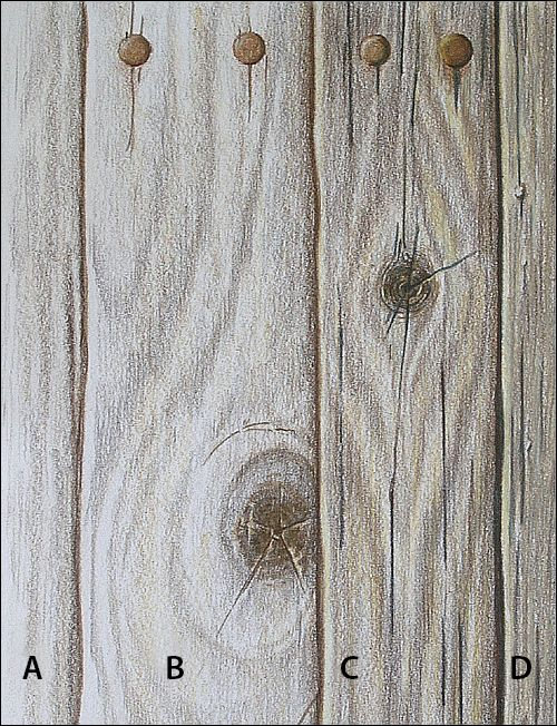 500x652 How To Draw Realistic Wood Grain Details With Colored Pencils