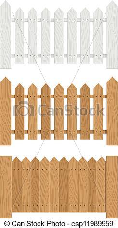 245x470 Wooden Fence Set Of Vector Illustration Eps10. Transparent