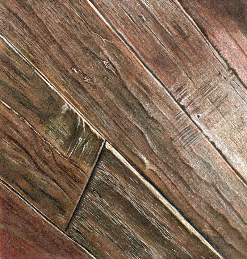 800x839 Hardwood Floor. Prismacolor Marker On Marker Paper. Renderings