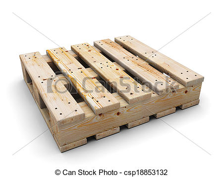 450x357 Wooden Pallet. Isolated White. Wooden Pallet Isolated