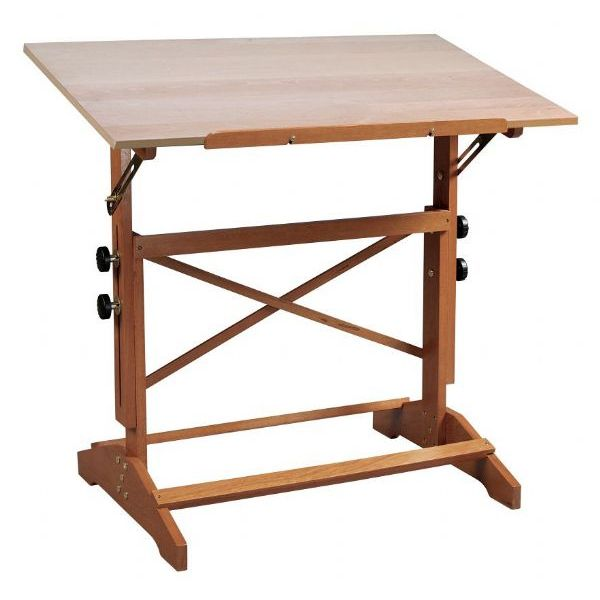 600x600 Alvin Pavillon Art And Drawing Table Unfinished Wood Top 24 X 36