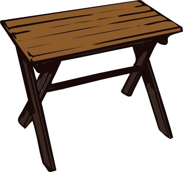 600x563 Collapsible Wooden Table Clip Art Free Vector In Open Office