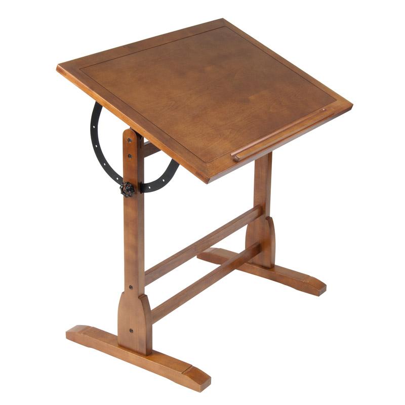 800x800 Studio Designs 42 Vintage Drafting Table, Color Rustic Oak 13305