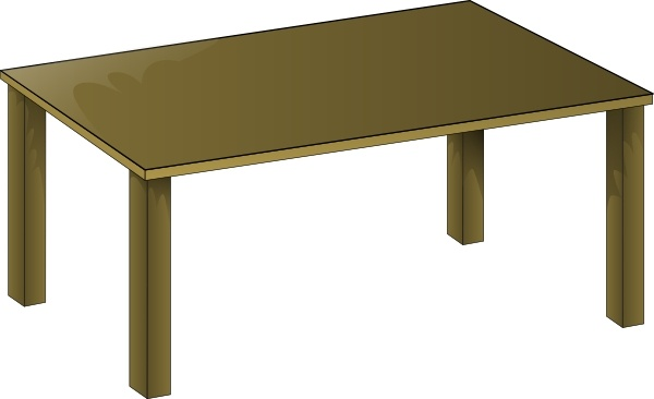 600x366 Wooden Table Clip Art Free Vector In Open Office Drawing Svg