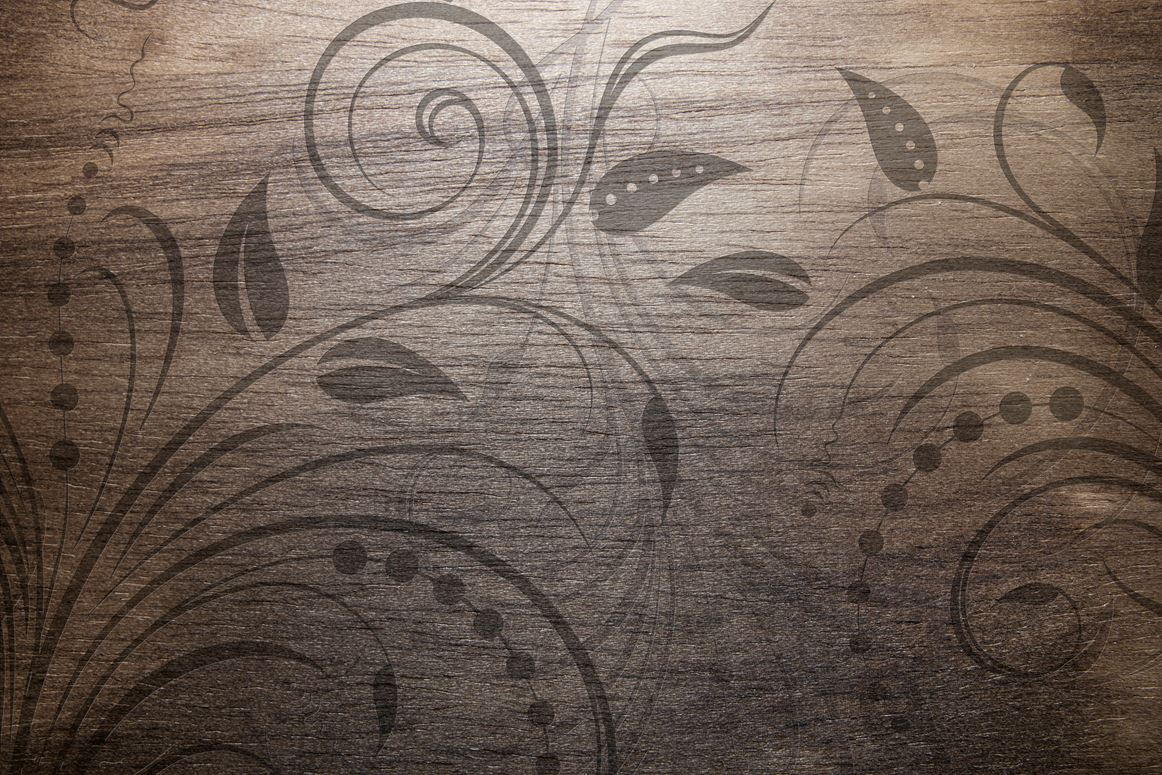 1162x775 Vintage Wood Texture With Swirl Floral Design