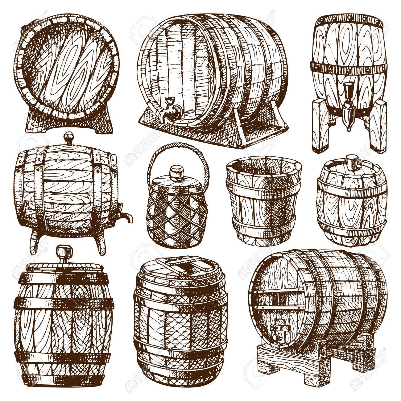 1300x1300 Wooden Barrel Vintage Old Style Wooden Barrels Oak Storage