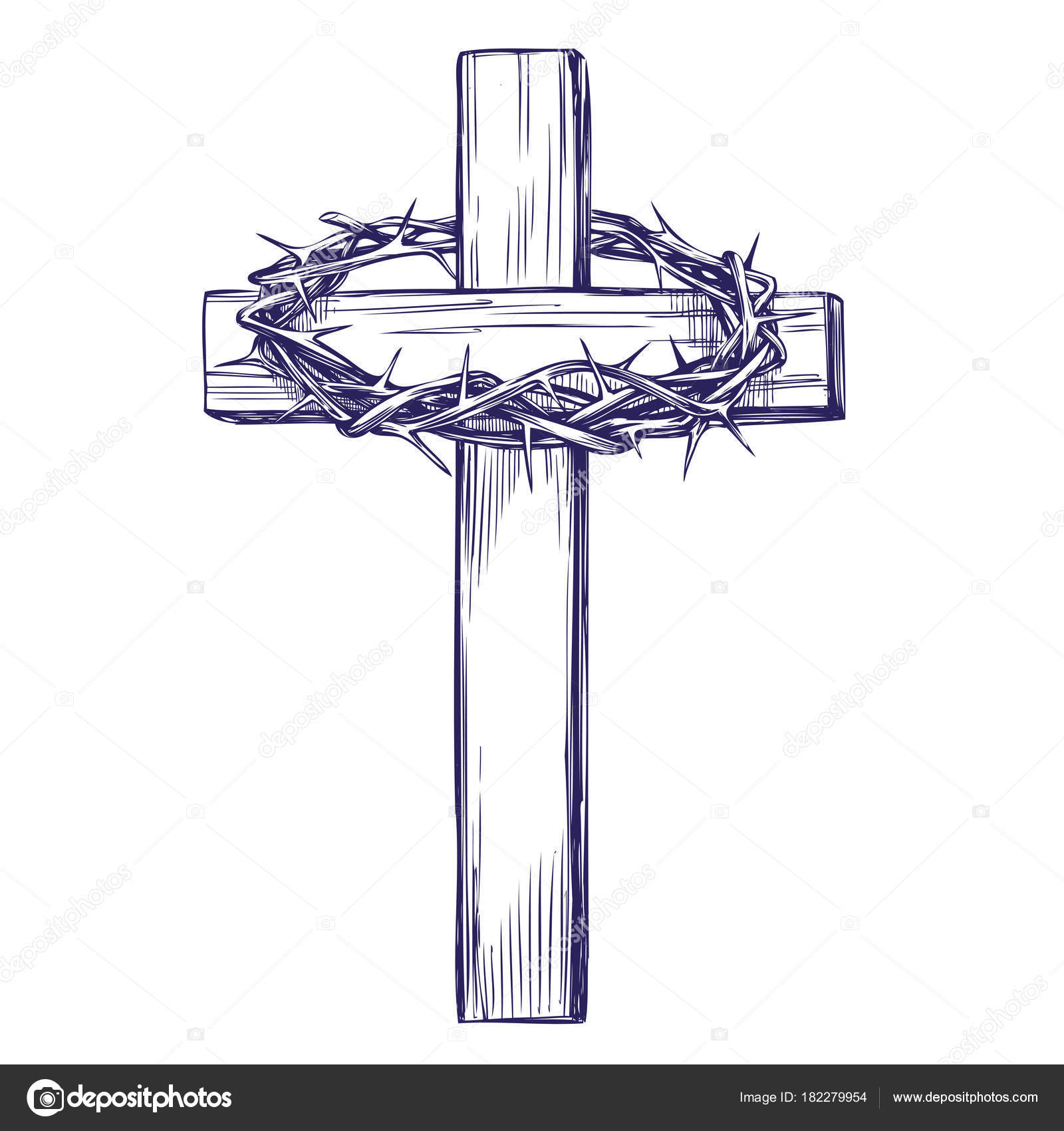 1600x1700 Crown Of Thorns, Wooden Cross. Easter Symbol Of Christianity