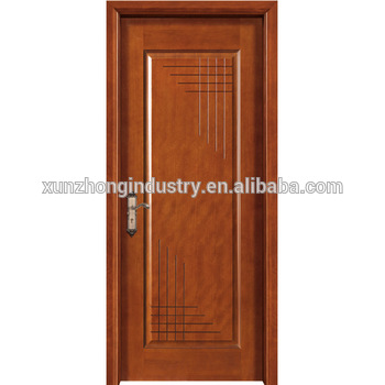 350x350 Classic Interior Drawing Room Single Leaf Flush Wooden Door Design