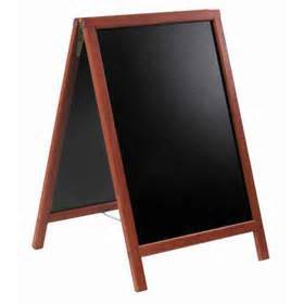 280x280 Sign Stand Wooden Drawing Board