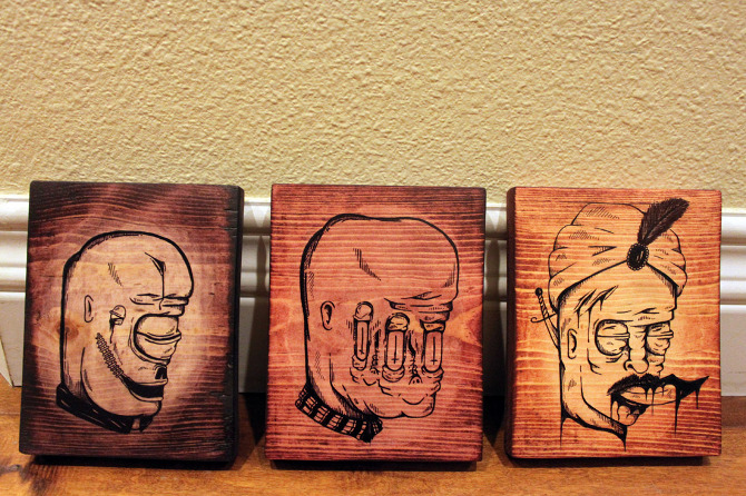 670x446 Wooden Drawings