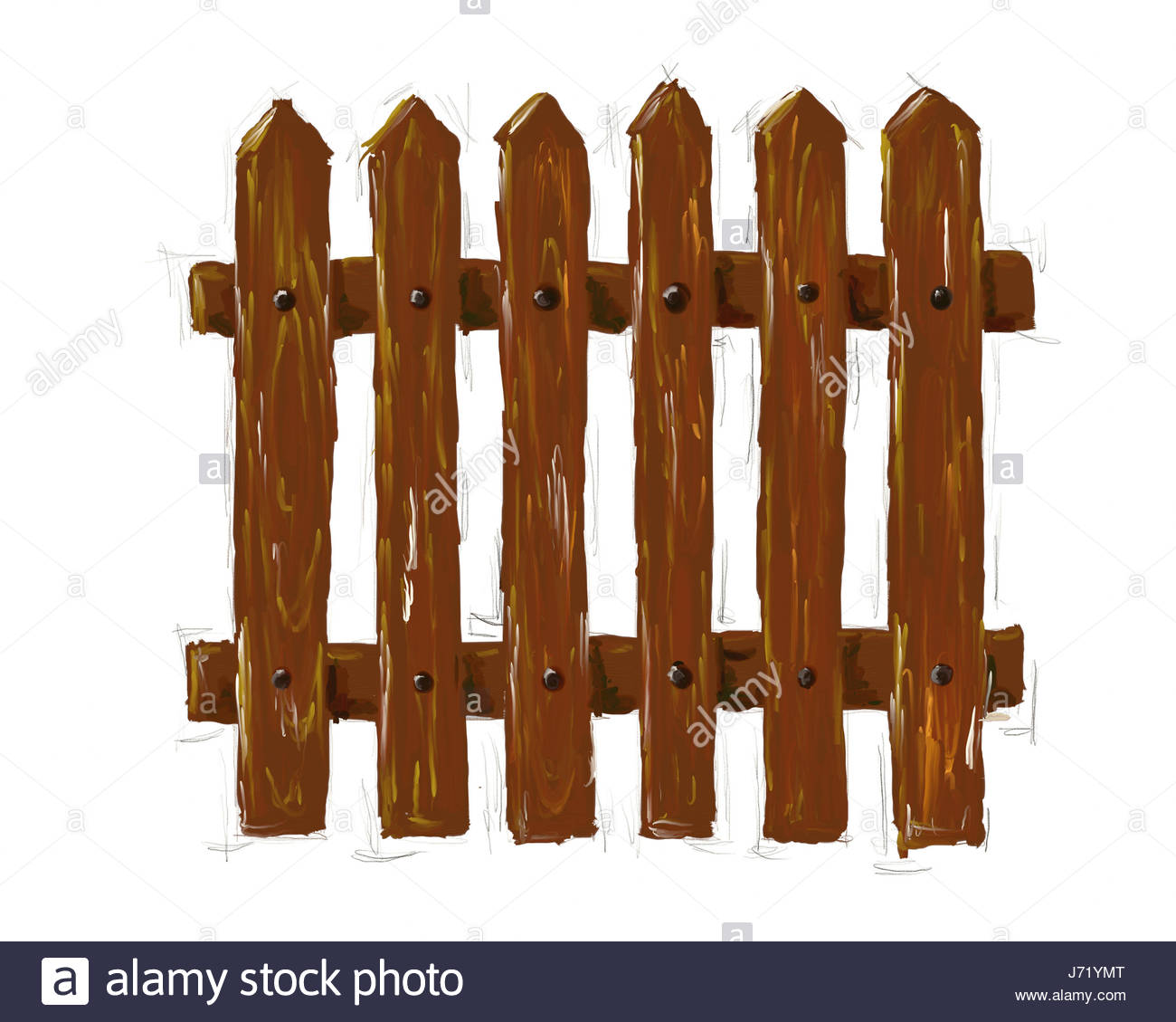 Wooden Fence Drawing at GetDrawings.com | Free for personal use ...