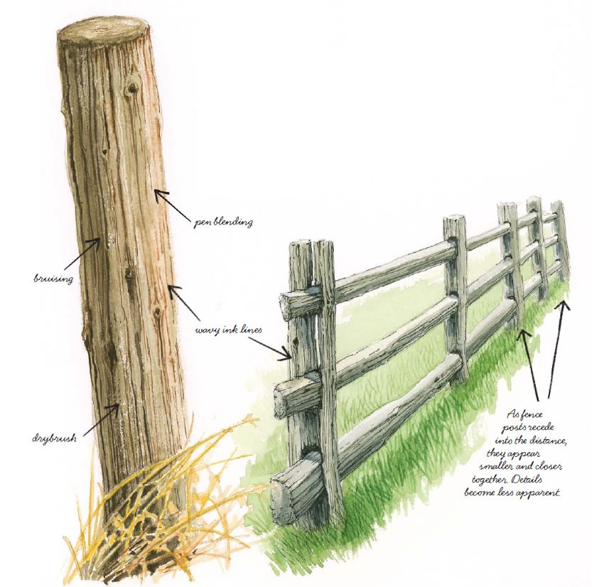 850x826 Wood Fence Drawing