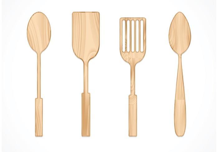 700x490 Free Vector Wooden Spoon Set