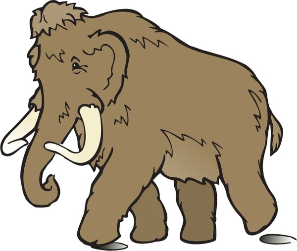 600x507 Wooly Mammoth Free Vector In Open Office Drawing Svg ( Svg