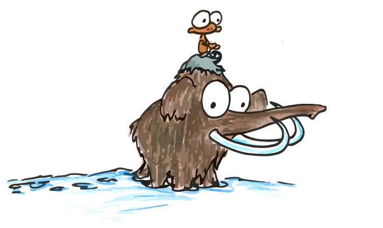 752x448 A Monkey Riding A Woolly Mammoth