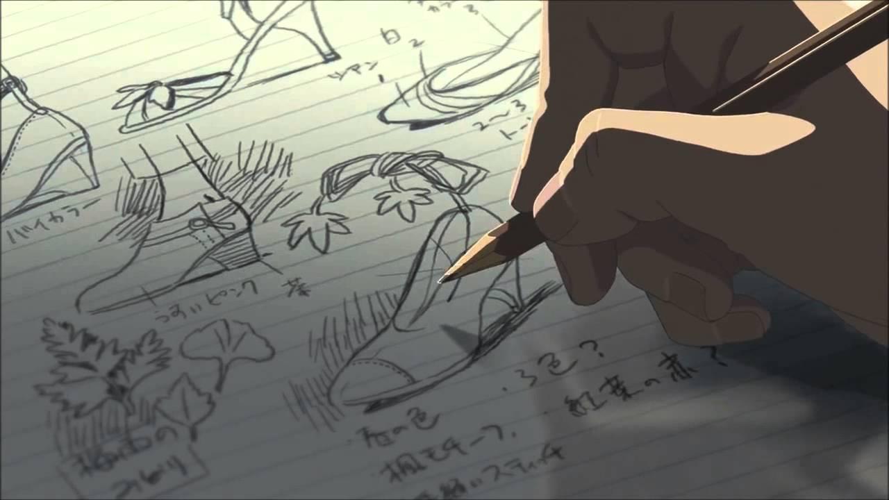 1280x720 Garden Of Words Drawing
