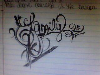 320x240 Word Family Drawing By Danika Heath