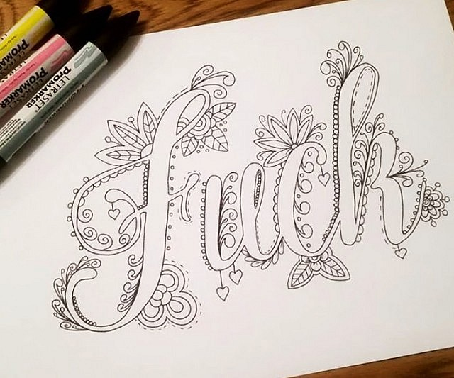 640x533 Words Coloring Book